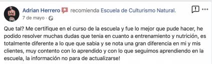 Opinión valoración curso experto entrenador personal escuela culturismo natural Roberto Amorosi, Adrian Herrero