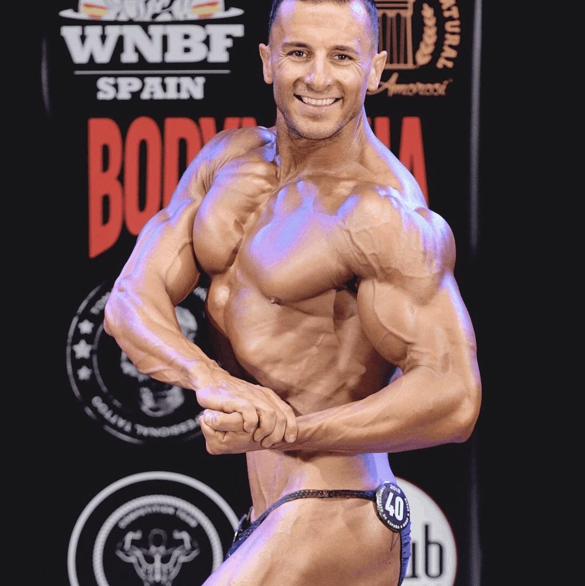 Competidor Pedro Adrover pesos pesados WNBF 2018