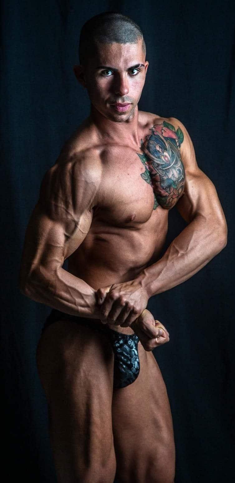 atleta fisicoculturista natural ejercicio de musculacion Entrenamiento