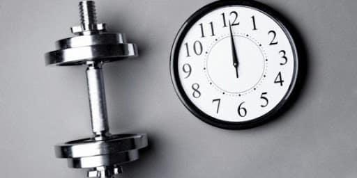 tiempo en el gimnasio Entrenamiento
