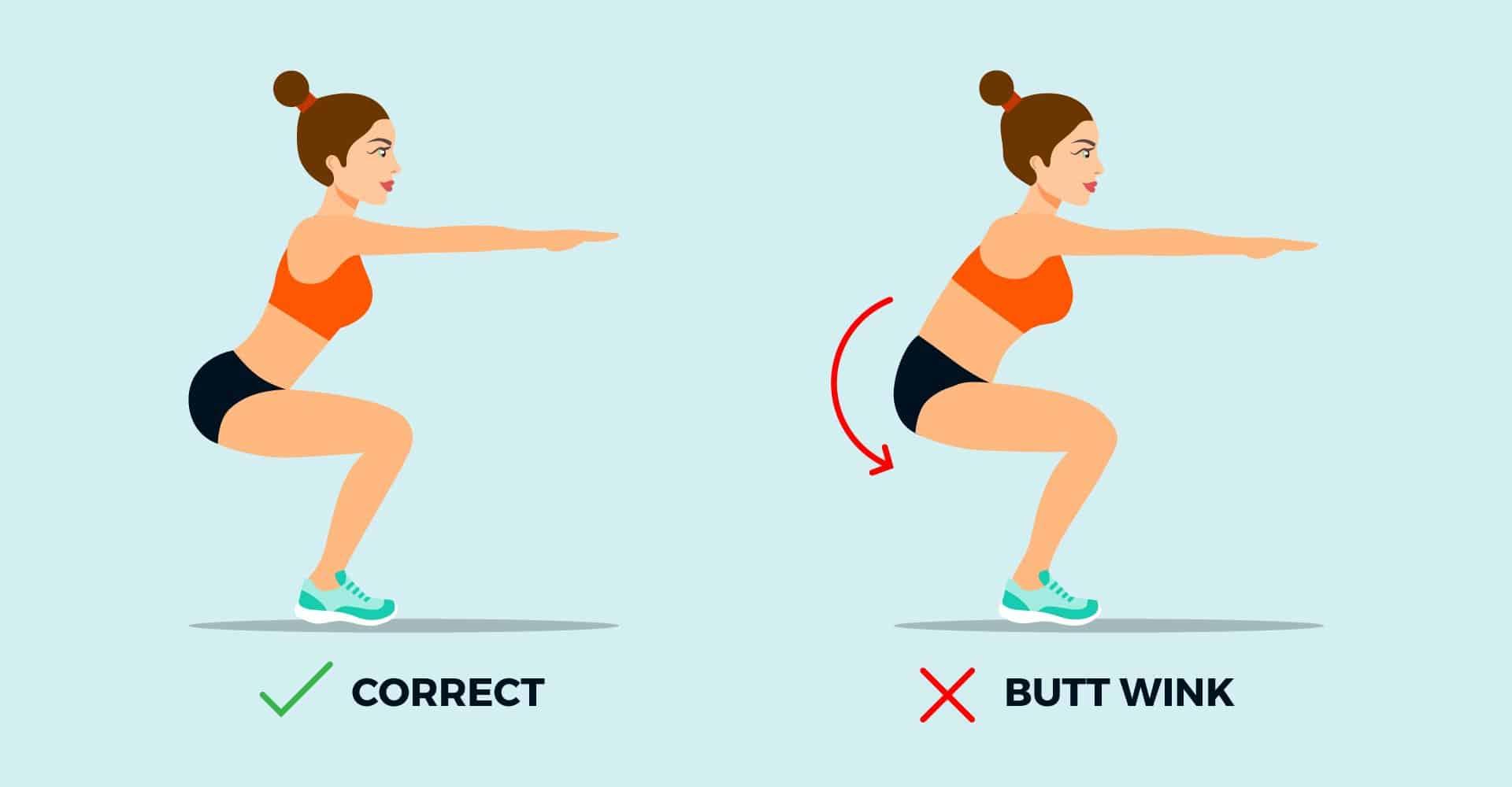 butt wink ejercicios basicos